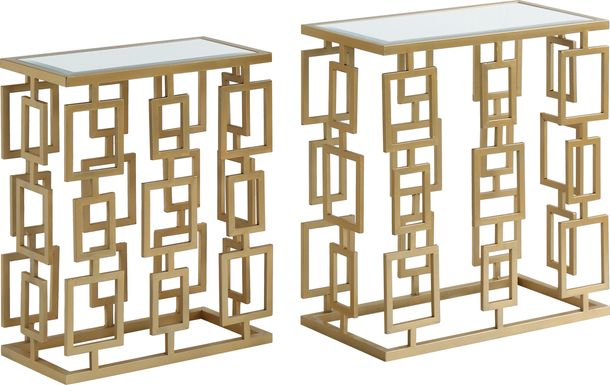 Wiseton Beige Set of 2 Nesting Tables