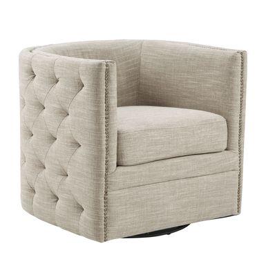 Wittmer Cream Accent Swivel Chair