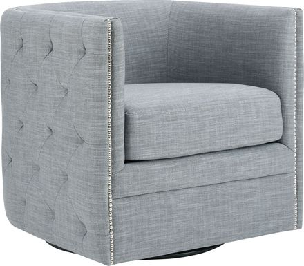Wittmer Slate Accent Swivel Chair