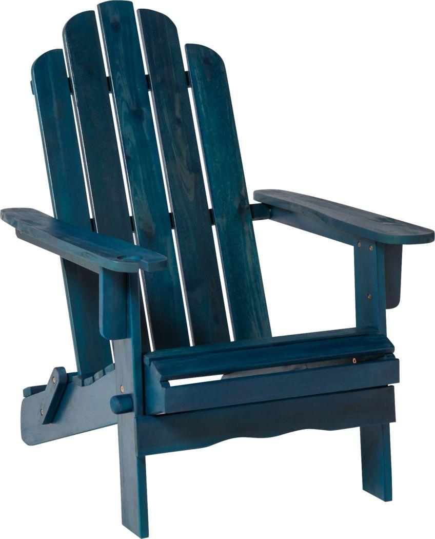 Wonsley Blue Outdoor Adirondack Chair