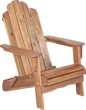 Wonsley Brown Outdoor Adirondack Chair