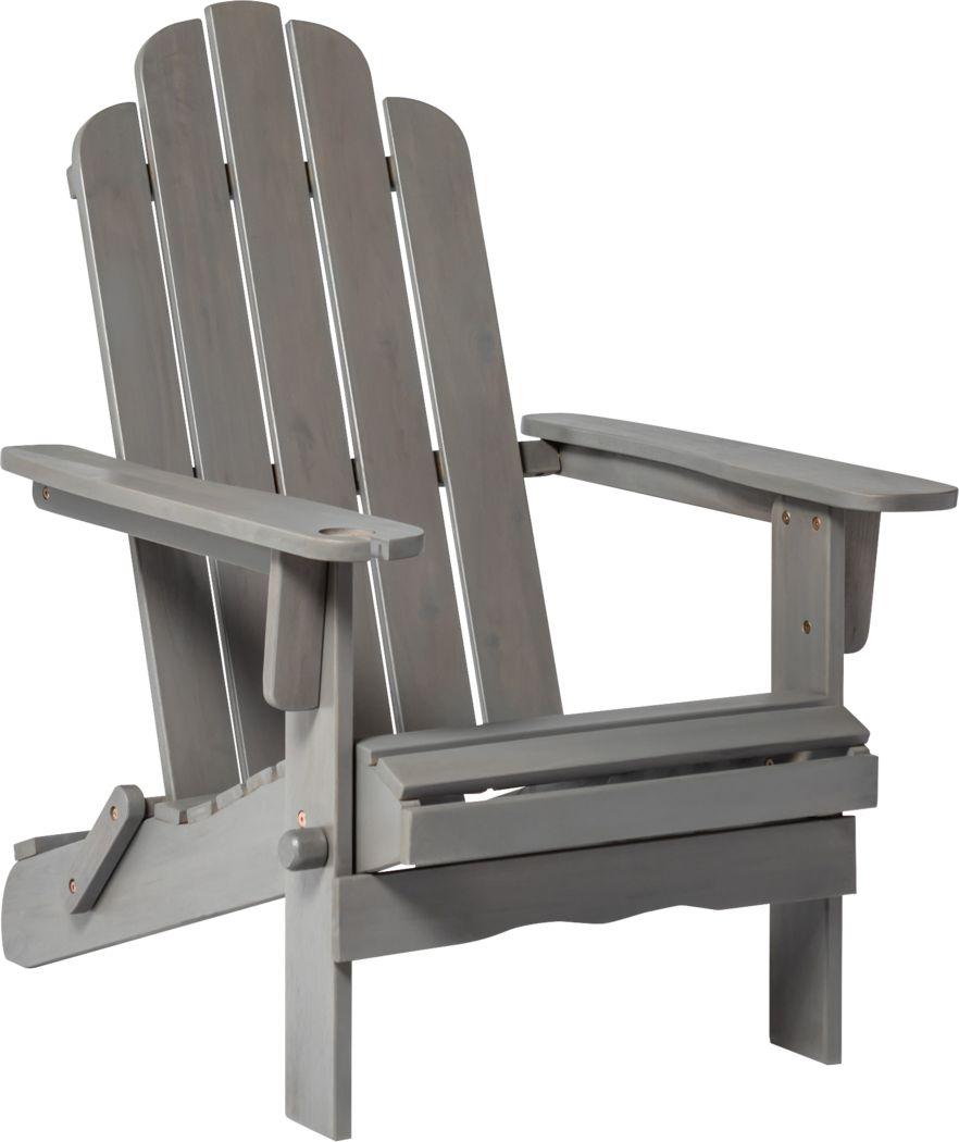 Wonsley Gray Outdoor Adirondack Chair
