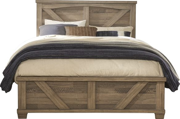 Woodcreek Brown 3 Pc King Panel Bed