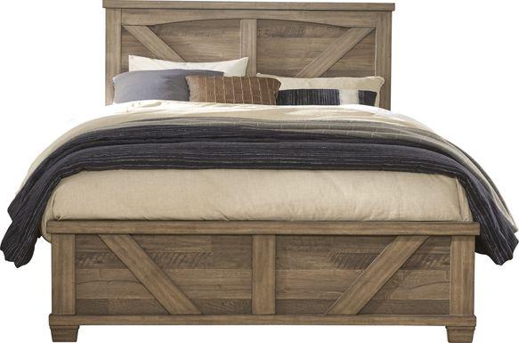 Woodcreek Brown 3 Pc Queen Panel Bed