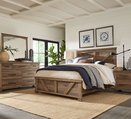 Woodcreek Brown 5 Pc King Panel Bedroom