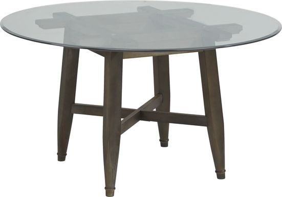 Woodland Avenue Brown 48 in. Round Dining Table