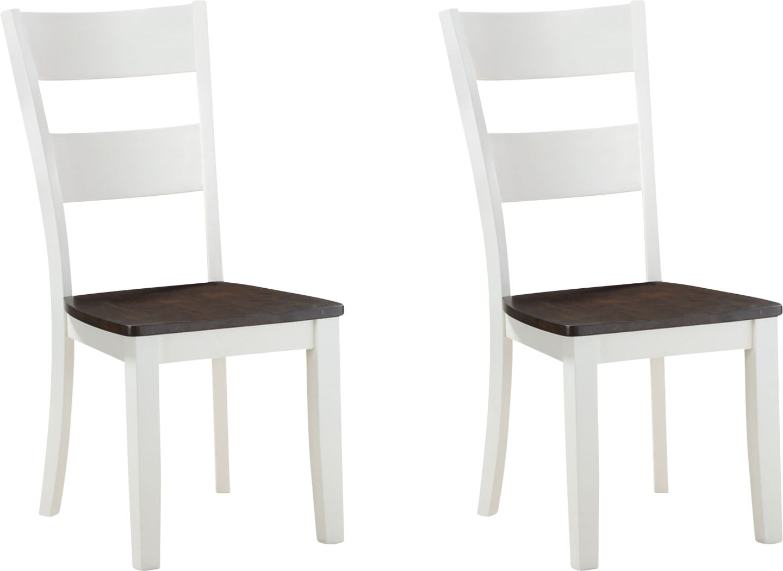 Woodybrook White Side Chair, Set of 2
