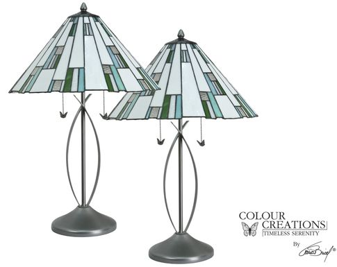 Wrightsville Blue-Green Lamp, Set of 2