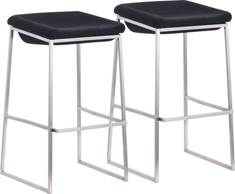 Xantho Dark Gray Barstool, Set of 2