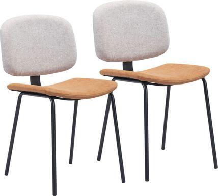 Xenodice Beige Side Chair, Set of 2