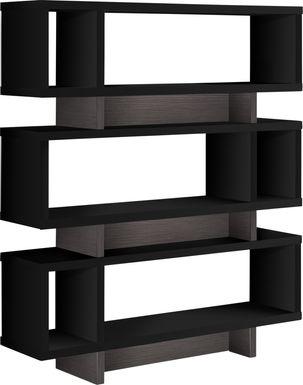 Yorkwood Black Bookcase