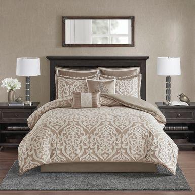 Zaida Tan 8 Pc Queen Comforter Set