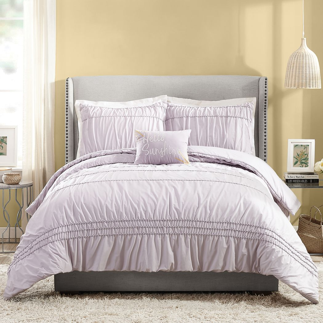 Zavia Purple 4 Pc King Comforter Set