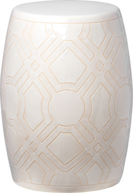 Zelton White Outdoor Stool