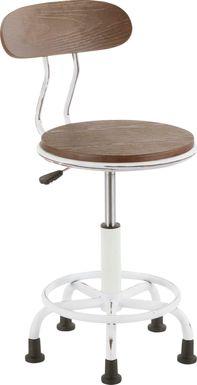 Zenobia White Office Chair