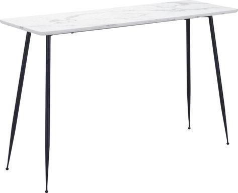 Zermat White Sofa Table