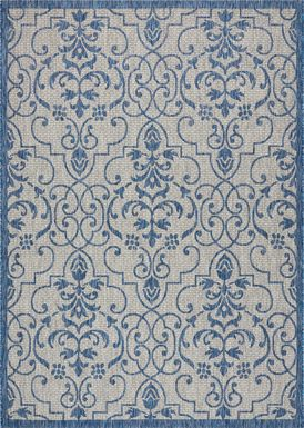 Zeyla Blue 8' x 11' Indoor/Outdoor Rug