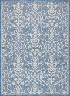 Zeyla Denim 8' x 11' Indoor/Outdoor Rug