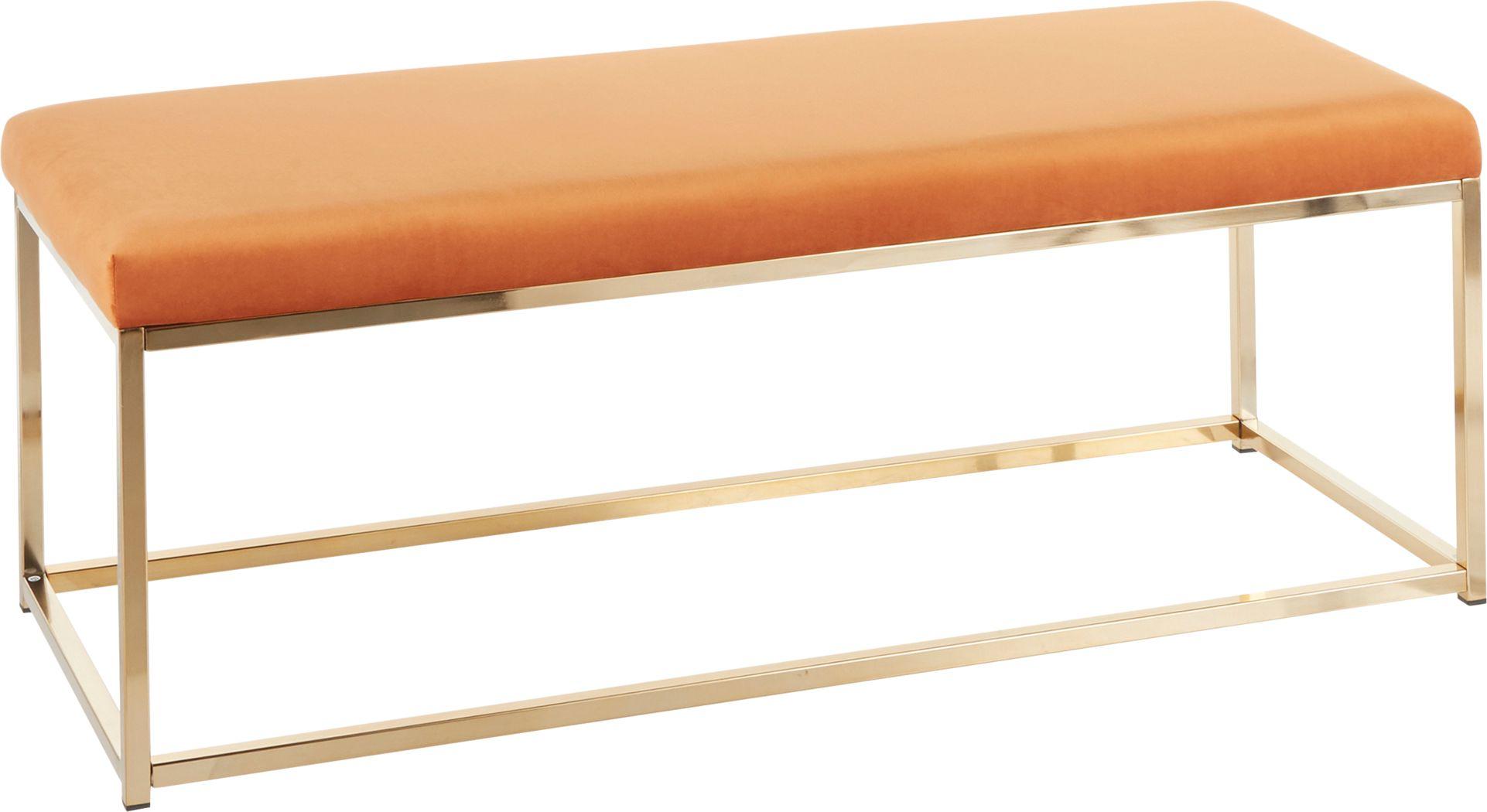 Zimpel Orange Accent Bench