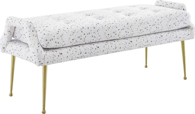 Zitto White Accent Bench