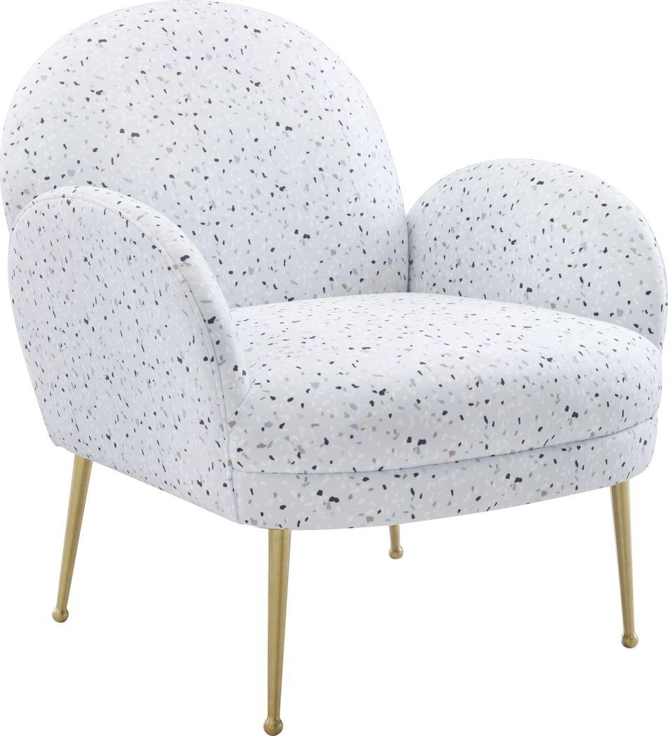 Zitto White Accent Chair