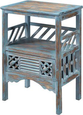 Zowen Blue Accent Table