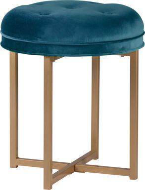 Zygmont Blue Vanity Stool